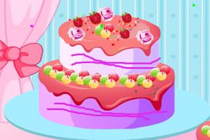 装饰草莓蛋糕