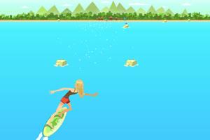 卡莉爱冲浪