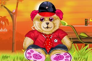 可爱小熊娃娃