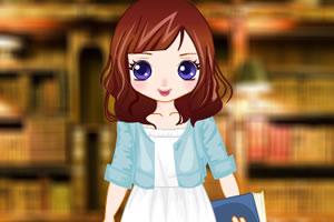 图书馆小女生