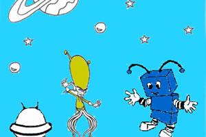 外星生物大战机器人
