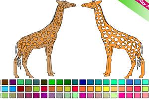 长颈鹿上色