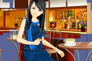 咖啡店小女生