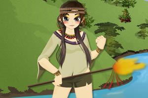印第安女孩装扮