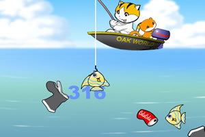 奇童梦乐小猫钓鱼