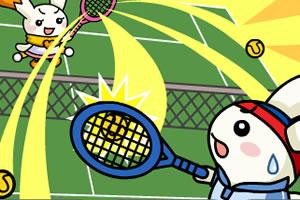 萌兔打网球