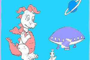 小恐龙填色