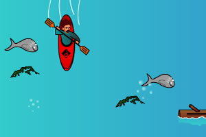 漂流收鱼挑战