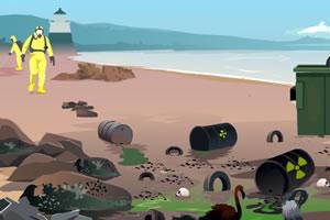 清理海滩核泄漏