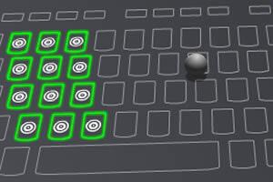键盘平衡球