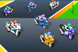 摩托车赛找数字