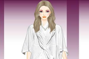 白色礼服装扮