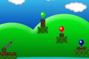 大炮射击气球