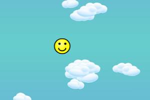 笑脸跳云朵