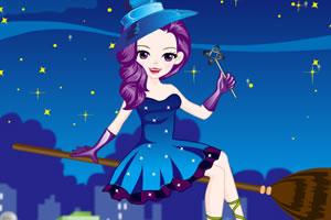 骑扫帚的小魔女