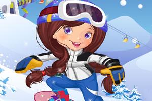 滑雪小女生