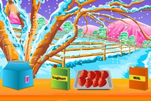 新鲜水果沙冰