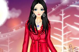 深红色大衣