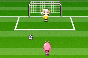 可爱女生足球