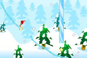 圣诞老人画线滑雪