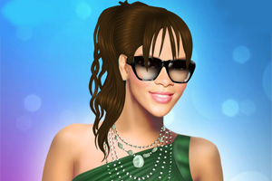 蕾哈娜化妆打扮
