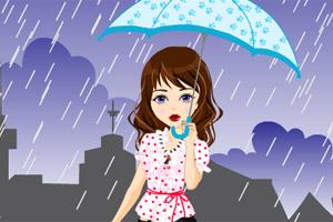 雨天的女孩