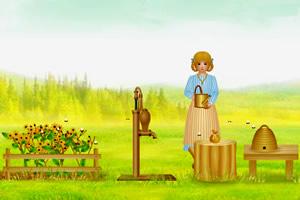 花园采蜂蜜