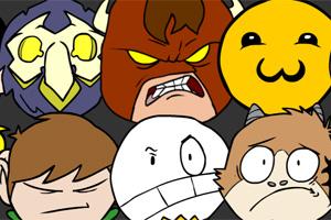 2012游戏英雄脸谱