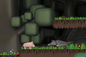小猪丛林觅食