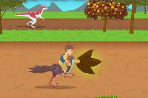 丹尼骑恐龙