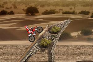 沙漠越野摩托