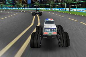 3D大脚警车竞速
