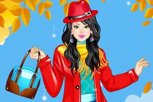 秋季甜美女孩