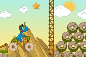 小恐龙骑石车无敌版