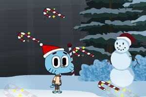 圣诞节抢糖跳跃