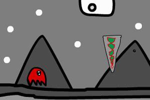 小红怪爬山