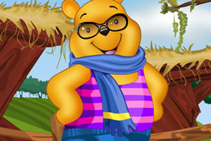 给维尼熊打扮