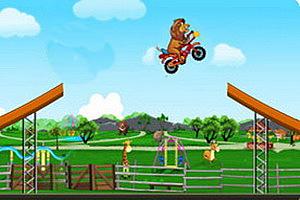 狮子骑摩托无敌版