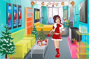 帮女孩找圣诞帽