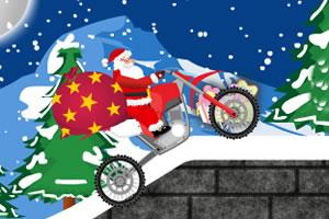圣诞老人开摩托