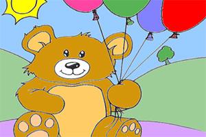 小胖熊填颜色