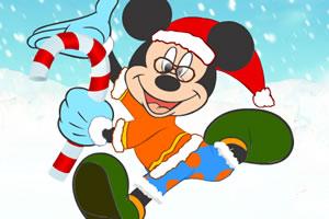 米奇的圣诞装