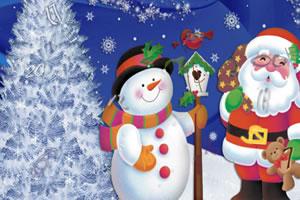 圣诞雪人找数字