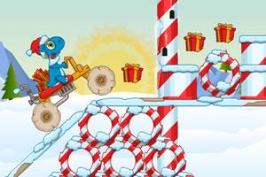 小恐龙骑石车圣诞版