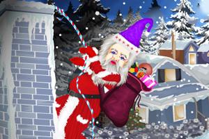 屋顶上的圣诞老人