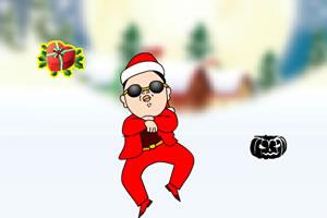 江南style搞笑接宝圣诞版
