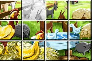 农场动物滑动拼图