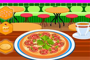 晚餐披萨装饰