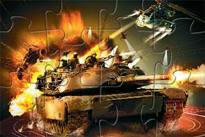 军事坦克拼图