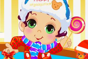 新年可爱男孩